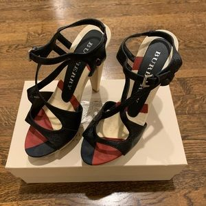 Burberry Black 8.5 Heels